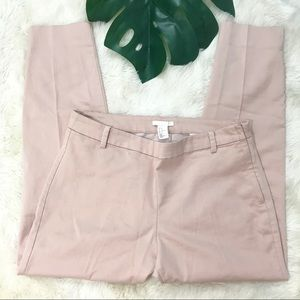 H&M high rise dusty rose crop pants